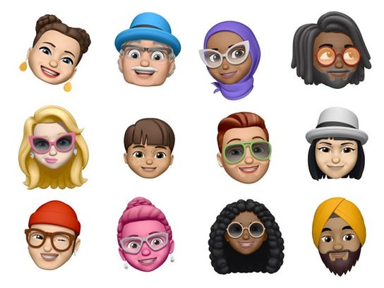12 examples of customizable Memoji