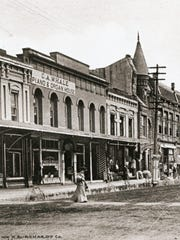 C.A. Whale Piano and Organ House is seen on Commercial Street circa 1902-1905.