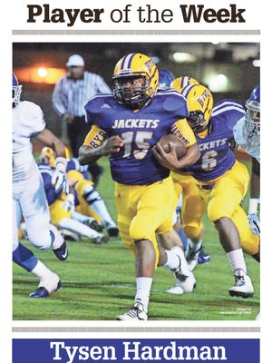 Byrd running back Tysen Hardman earned a share of the Week 10 Player of the Week.