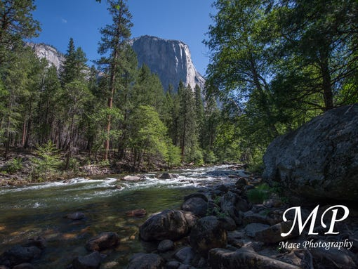 A contributor looks out at El Capitan from the valley of Yosemite National Park in Madera, Calif.