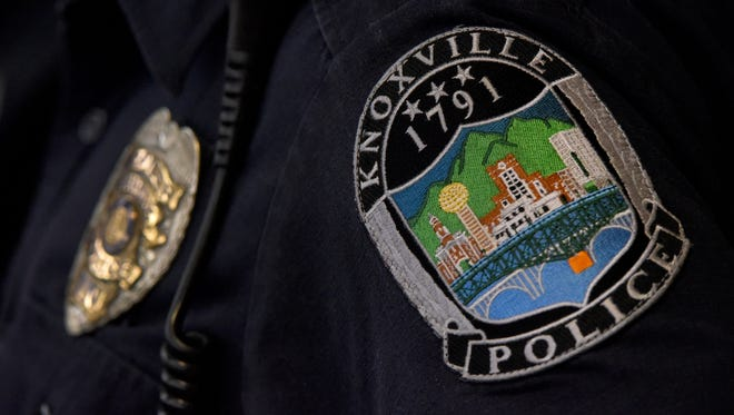 Logo for police stories in Knoxville 2018. KPD patch and badge.