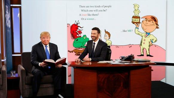 Donald Trump reads the last bit of 'Winners Aren't