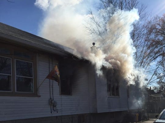 The fire was reported shortly before noon and was declared under control about 45 minutes later.