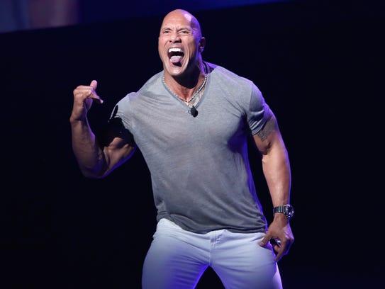 Dwayne Johnson talks up 'Moana' at Disney's D23 Expo