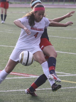 Churchill's Sara Taylor scored two goals in Tuesday's 4-1 victory over Franklin.