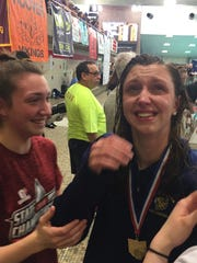 Lancaster's Olivia Schmelzer breaks down after winning