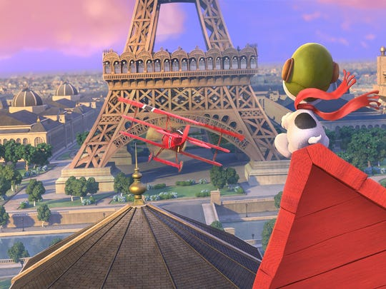 "Snoopy's imagination takes him to Paris in ""The Peanuts Movie."""