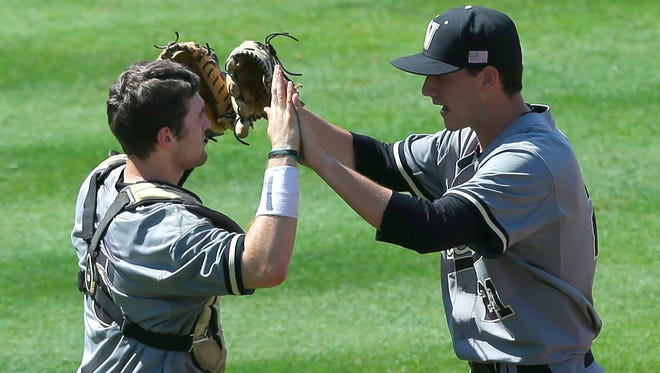Vanderbilt's Jason Delay, left, and John Kilichowski were selected in the 11th round of the MLB amateur draft on Saturday.