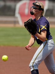 Tomahawk's Rachel Dallman releases a pith during the WIAA Division 3 state softball championship game earlier this month.