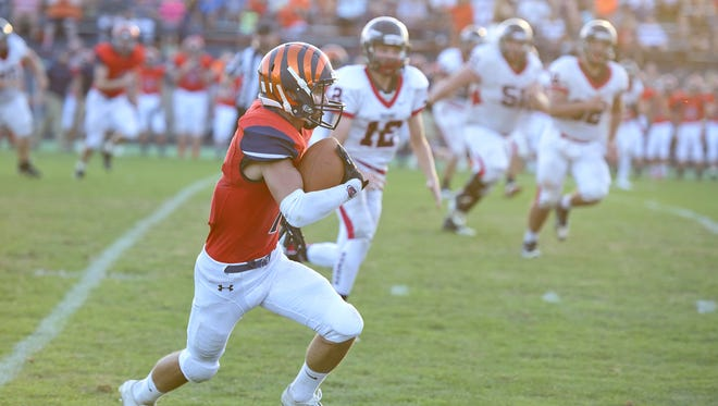 Tanner Crisman returns as one of the key skill players on offense for the Tigers this year.
