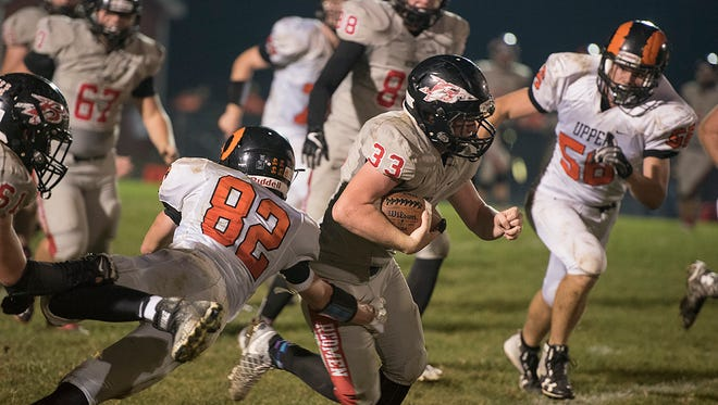 Devon Newland was used often against the Rams and he helped open the Bucyrus offensive game up.