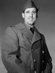 Hank Greenberg is shown wearing his uniform at Fort Custer, on May 8, 1941 in Michigan.