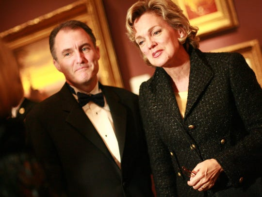 Then-Gov. Jennifer Granholm and her husband, Dan Mulhern,