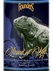 Lizard of Koz (10.5% ABV) is a bourbon-barrel aged imperial stout with fresh Michigan blueberries, rich chocolate syrup and vanilla.