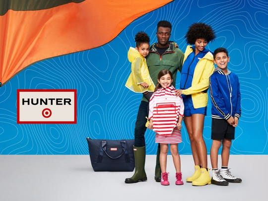 Target is teaming up with bootmaker Hunter with the