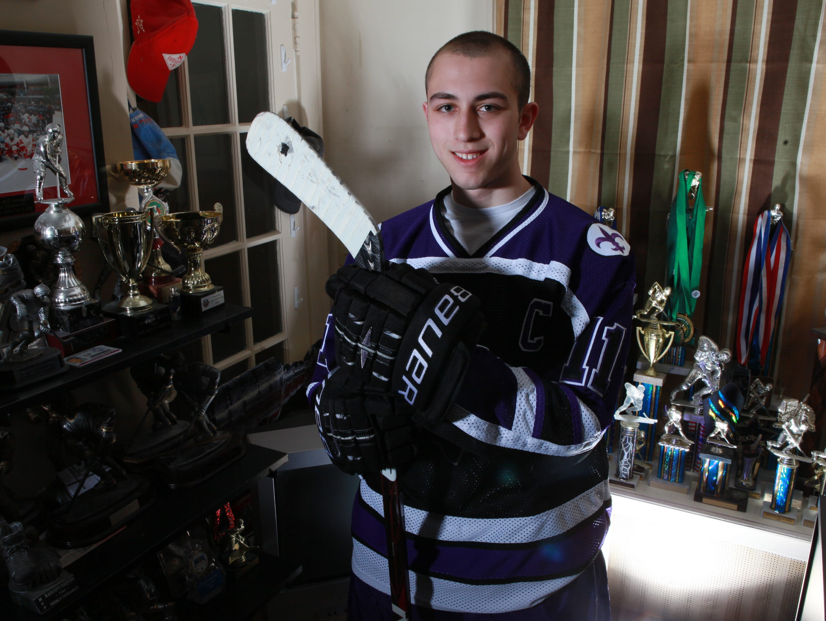 """Richie Prunesti was the Westchester hockey Player of the Year in 2011. He continued to play junior hockey but was eventually worn down by the grind. """" I was missing my friends. I was tired. I was looking for a chance to relax. I quit. That might be the biggest mistake I ever made. Looking back on it now, I would give anything to get back in."""""""