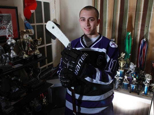 Richie Prunesti was the Westchester hockey Player of