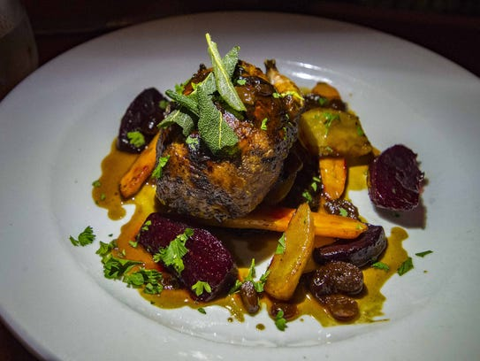 Roast quail at Bistro de Margot in Burlington on Tuesday,