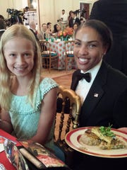 Fort Collins 10-year-old Hannah Skalicky is served during the Kids State Dinner at the White House earlier this month in Washington, D.C.