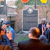 Event dedicates marker recognizing MSU's desegregation