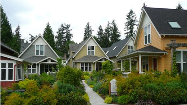 A view of the outside of a residential area in Seattle which will be similar for the Grinnell residences.