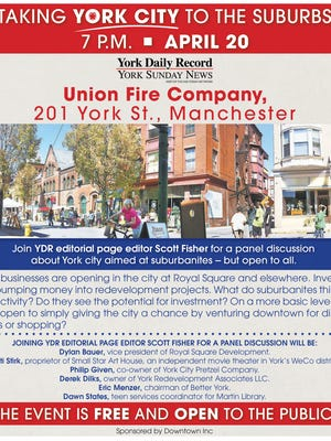 YDR is sponsoring public event April 20 in Manchester.