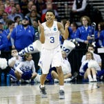 Kentucky Tyler Ulis is pumped up.  March 26, 2015