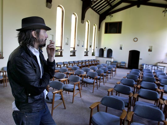 Cory Chisel provides a tour of the chapel that will