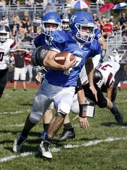 Gavin Elston picks up yardage for Horseheads on Sept.