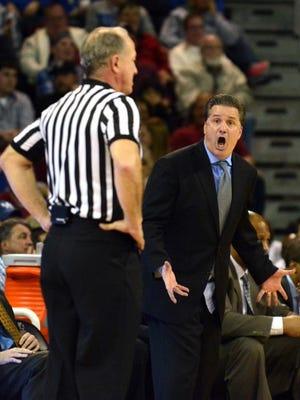 Kentucky's John Calipari has one of two SEC teams considered NCAA locks.