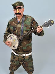 Second-place winner Dick Crislip dressed as his musical