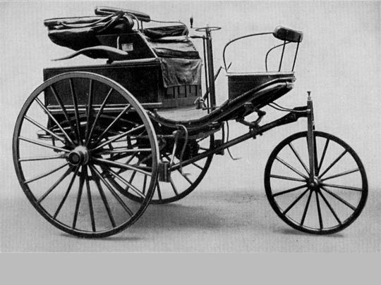 Lore has it that Bertha Benz sneaked her husband Karl's three-wheeled buggy-like Patent Motorwagen No. 3 out of the garage and motored an astounding 65 miles from Mannheim, Germany, to her mother's home in Pforzheim.