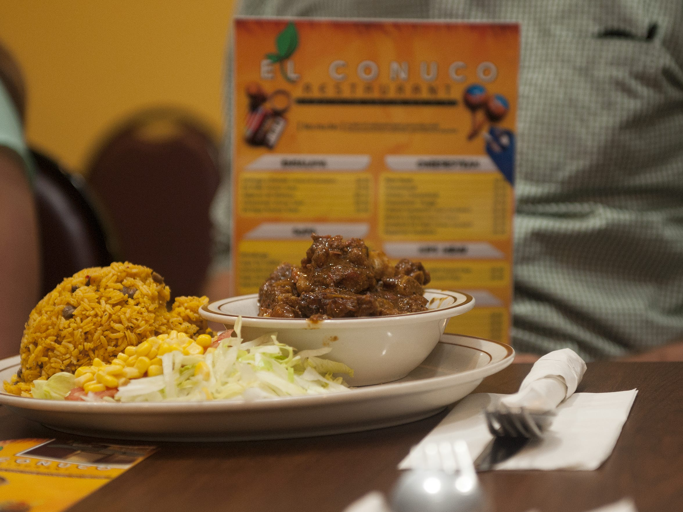 A beef dish is shown at El Conuco Restaurant in Camden during a meal attended by members of the Supper Club..