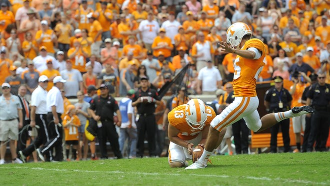 Tennessee kicker Aaron Medley is off to a lackluster start on field-goal attempts this season.