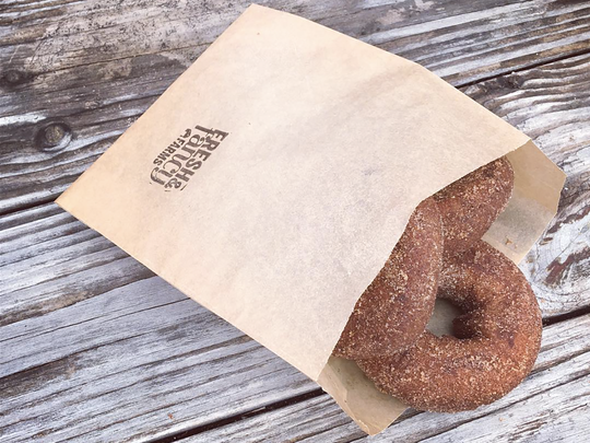 Apple cider doughnut from Fresh & Fancy Farms in New
