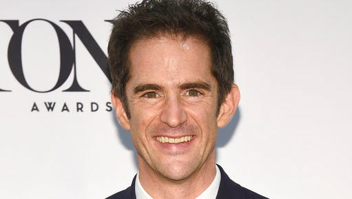 """FILE - In this June 12, 2016 file photo, Andy Blankenbuehler, winner of the award for best choreography for """"Hamilton"""" poses in the press room at the Tony Awards in New York. Blankenbuehler is directing the new musical """"Bandstand."""""""