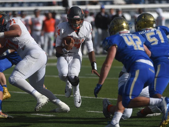 Reed takes on Bishop Gorman for the Nevada State 4A Football Championship at Mackay Stadium in Reno on Dec. 2, 2017.