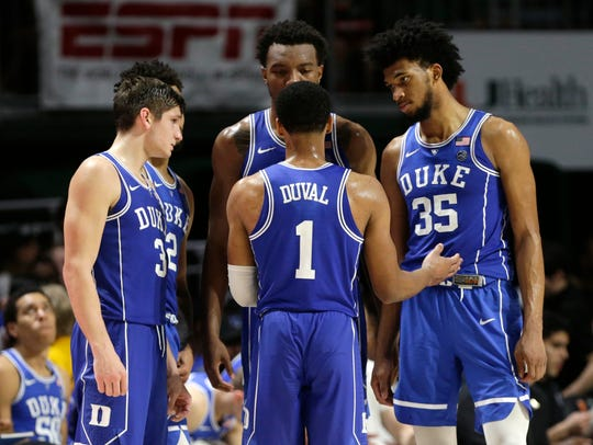 Marvin Bagley III, far right, has spearheaded the Blue