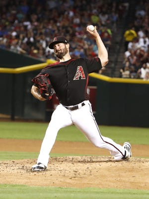 Arizona Diamondbacks starting pitcher Robbie Ray (38) throws during the 2nd inning against the Philadelphia Phillies on Saturday, June 24, 2017 at Chase Field in Phoenix, Ariz.