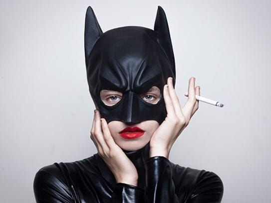 """Bat girl leather"" by Tyler Shields."