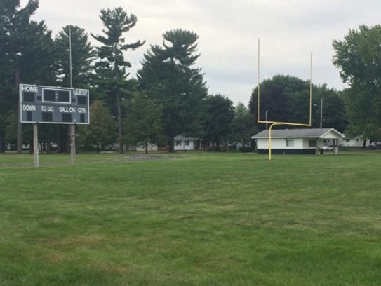 The Port Edwards football field lies empty a day after