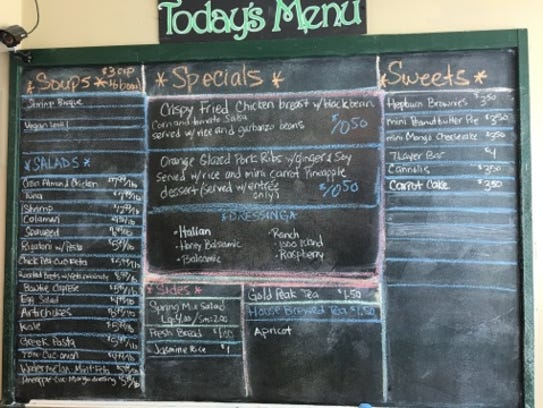 S&S Takeout's selections change each day and are written
