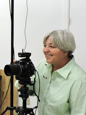 Wendy Bardrof in her new photography studio near Sunshine. The studio is open by appointment.