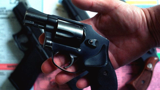 A five-shot revolver.