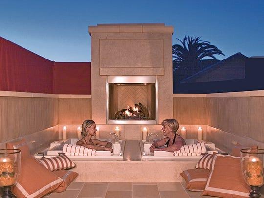 Enjoy an outdoor soak at the Villagio Inn & Spa.