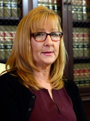 Janice Baker-Kinney in her lawyer's office in Los Angeles in April 2015. She is one five other accusers testifying against Bill Cosby at his sex-assault retrial in Norristown, Pa. April 11, 2018.