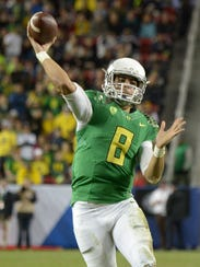 Oregon's Marcus Mariota is the FBS pass efficiency