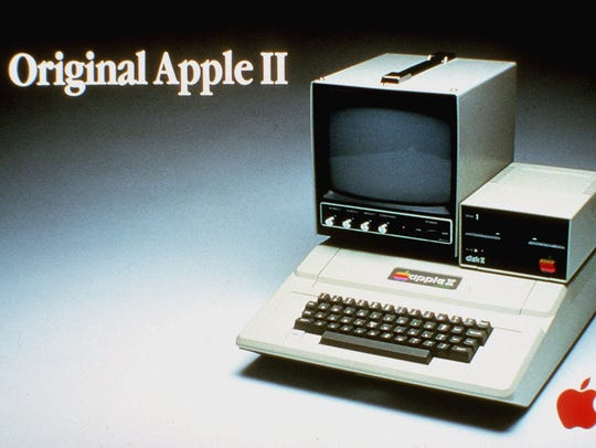 An advertisement for the Apple II computer.