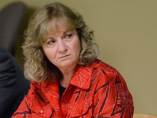 Glenda Ritz, superintendent of Public Instruction for Indiana, listens at the State Board of Education meeting Sept. 3, 2014, at the Ivy Tech Community College in Fort Wayne.