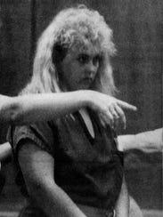 Lisa Pyatt in court when she accused of the 1991 murder.
